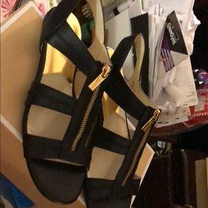 Michael Kors black flat sandal